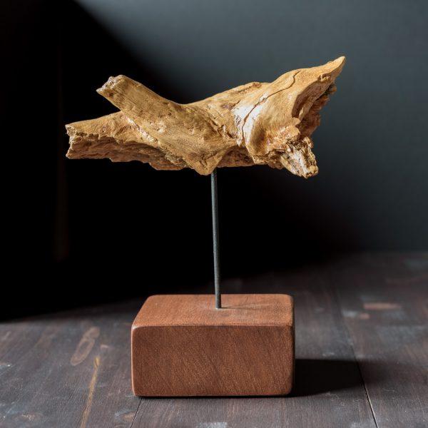 Escultura de raiz de madera de haya Grito